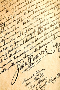 Declaration of Independence - John Hancock signature
